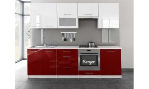 Küche 180/200/240/260 cm Hochglanz MDF