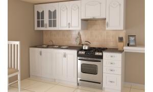 Küche Agata 240cm Weiß