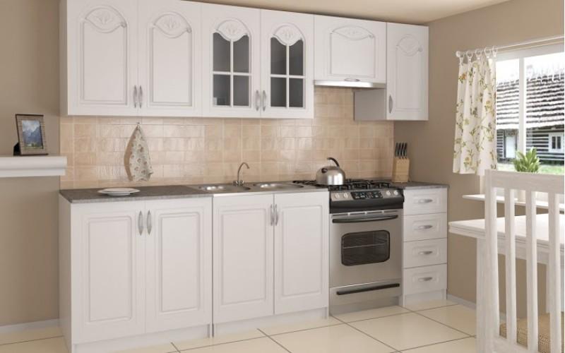 Küche Agata 260cm Weiß