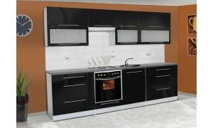 Küche Alice 280cm Schwarz