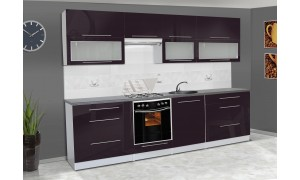 Küche Alice 280cm Violett