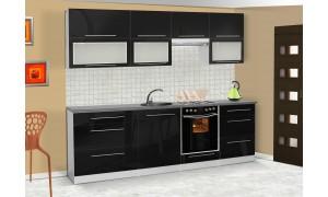 Küche Lily 260cm Schwarz