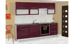 Küche Lily 260cm Lila