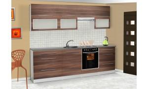 Küche Lily 260cm Walnuss