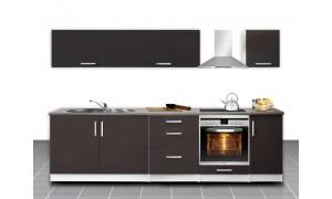 Küche Mel 280cm Braun