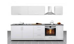 Küche Mel 280cm Weiß