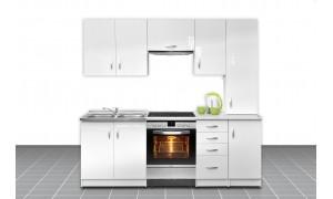 Küche Otylia 220cm Weiß