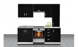Küche Otylia 220cm Schwarz