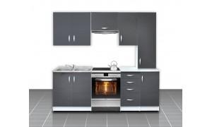 Küche Otylia 220cm Grau