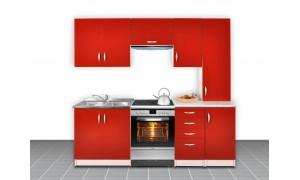 Küche Otylia 220cm Rot