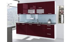Küche Tess 260cm Bordeauxrot