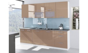 Küche Tess 260cm Cappuccino