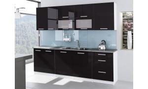 Küche Tess 260cm Schwarz