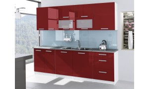 Küche Tess 260cm Rot