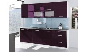 Küche Tess 260cm Violett