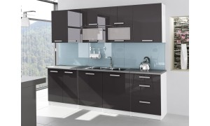 Küche Tess 260cm Grau