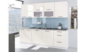 Küche Tess 260cm Vanille