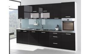 Küche Tess 320cm Schwarz