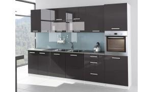Küche Tess 320cm Grau