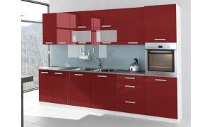 Küche Tess 320cm Rot