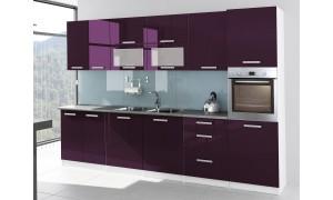 Küche Tess 320cm Violett