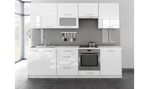 Küche Toro mit Glastür 260cm Weiß