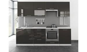 Küche Toro mit Glastür 260cm Grau