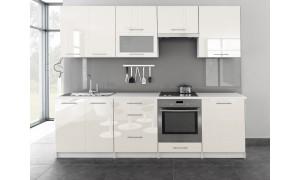 Küche Toro mit Glastür 260cm Vanille