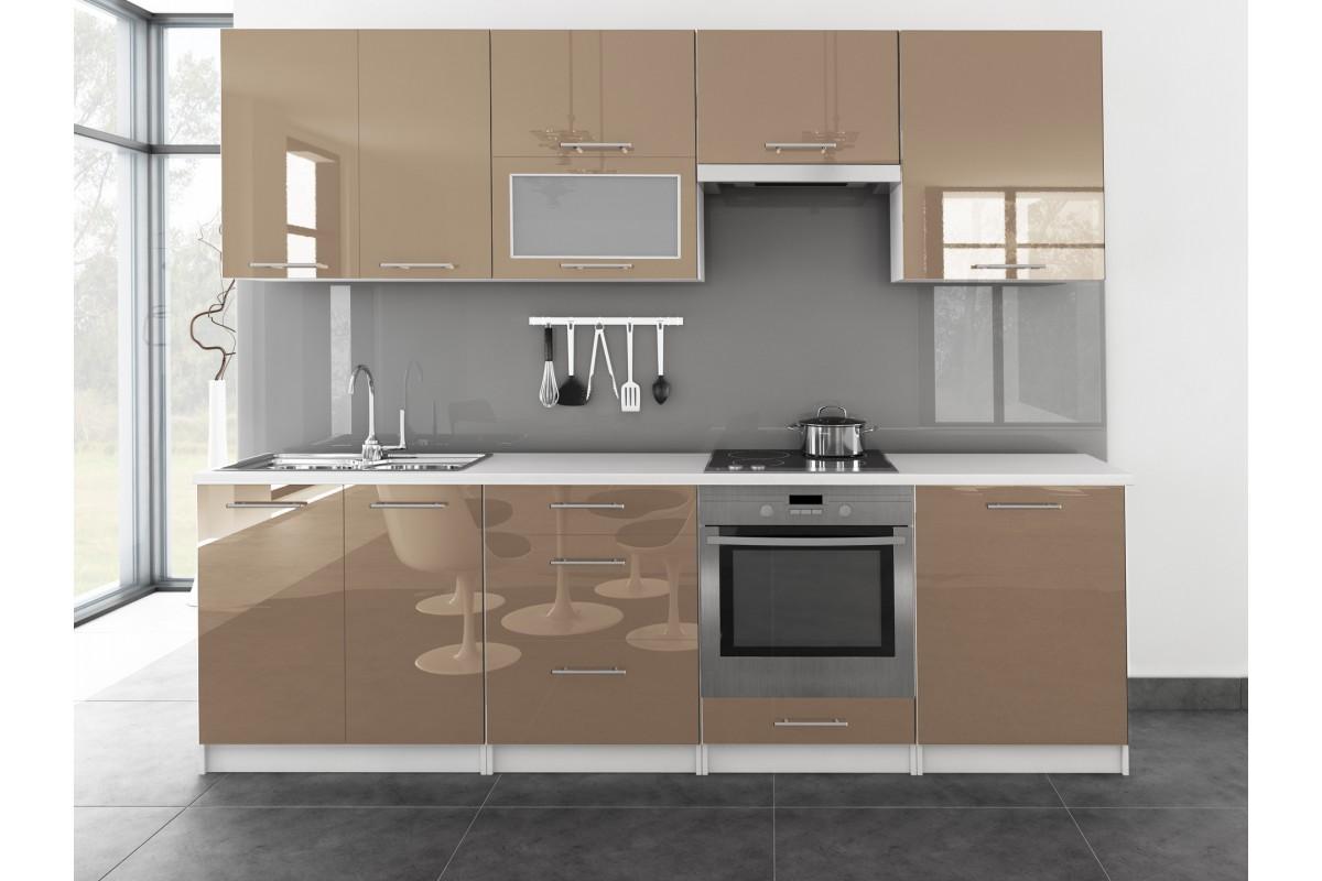 k che toro mit glast r 260cm cappuccino. Black Bedroom Furniture Sets. Home Design Ideas