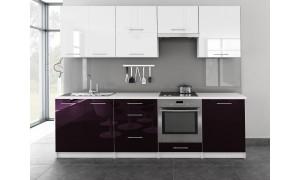 Küche Toro 260cm Weiß-Violett