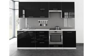 Küche Toro 260cm Schwarz
