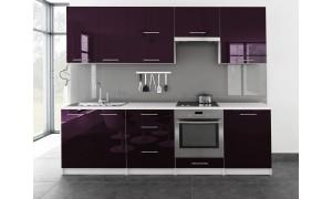 Küche Toro 260cm Violett