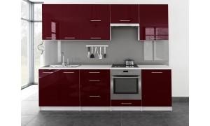 Küche Toro 260cm Bordeauxrot