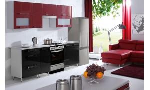 Küche Galexy Schwarz-Rot